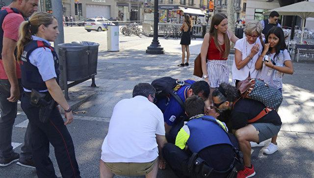 Теракт в Барселоне. Смотреть видео и прямое включение