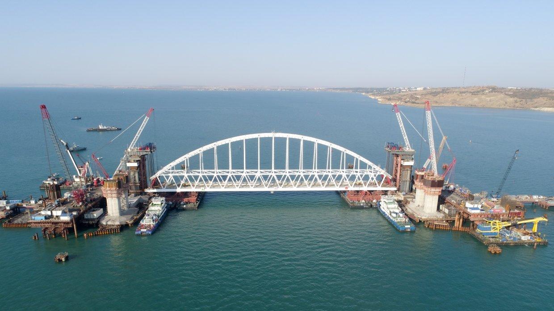 Керченский мост. Смотреть видео подъема жд арки